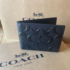 💯🆕Coach Men card holder wallet/leather/signature